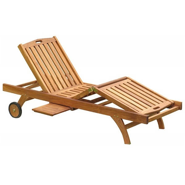 Teak Outdoor Sun Loungers
