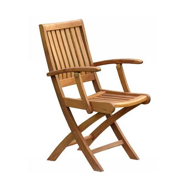 Teak Outdoor Folding Armchairs KTC 141