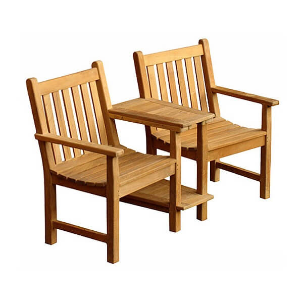 Teak Outdoor Love Seat