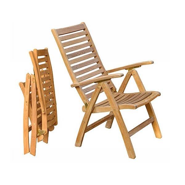 Teak Outdoor Recliner Chairs KTC 113