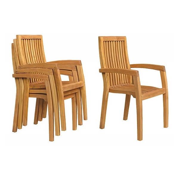 Teak Outdoor Stacking Chairs KTC 020