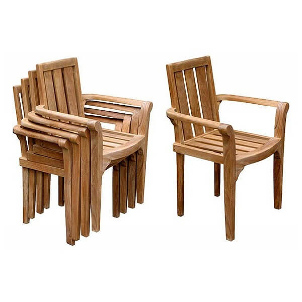 Teak Outdoor Stacking Chairs KTC 027