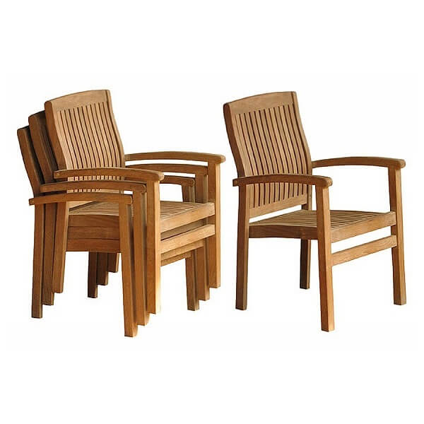 Teak Outdoor Stacking Chairs KTC 093