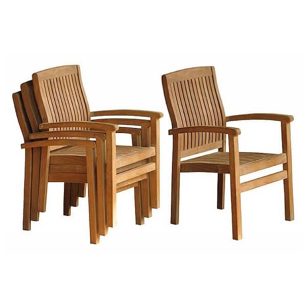 Teak Outdoor Stacking Chairs KTC 093