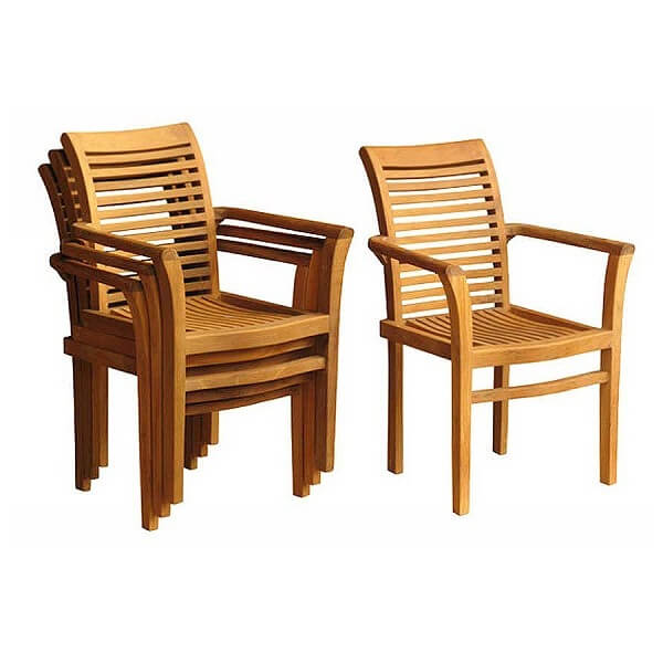 Teak Outdoor Stacking Chairs KTC 099