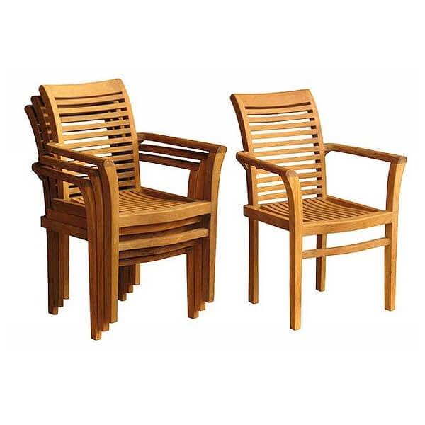 Teak Outdoor Stacking Chairs KTC 099