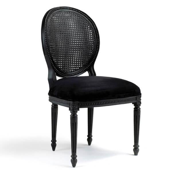 Antique Black Paint Dining Armchairs KMK 045