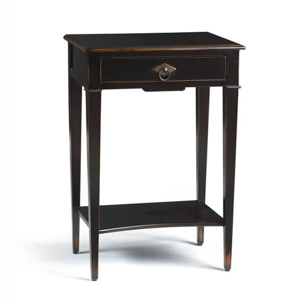 antique black painted bedside table kkn 031 bed side furniture