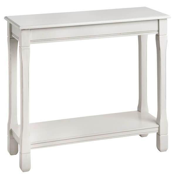 Antique White Paint Console Table KKK 016