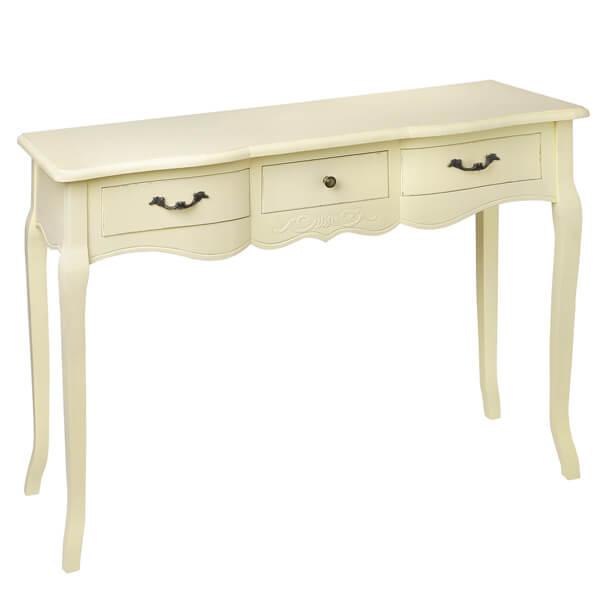 White Console Table : Antique White Paint Console Table KKK 018