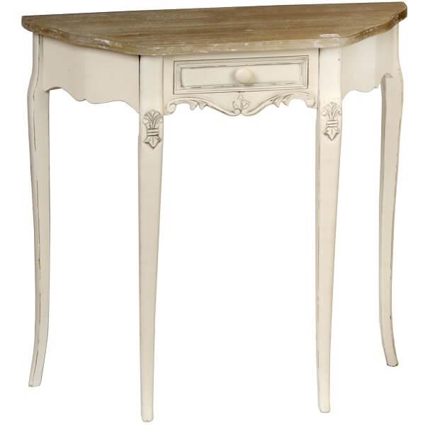 Antique White Paint Console Table KKK 023