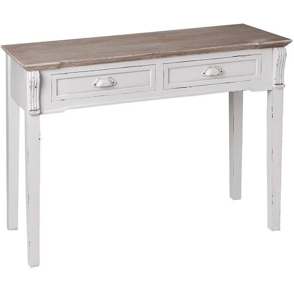Antique White Paint Console Table KKK 027