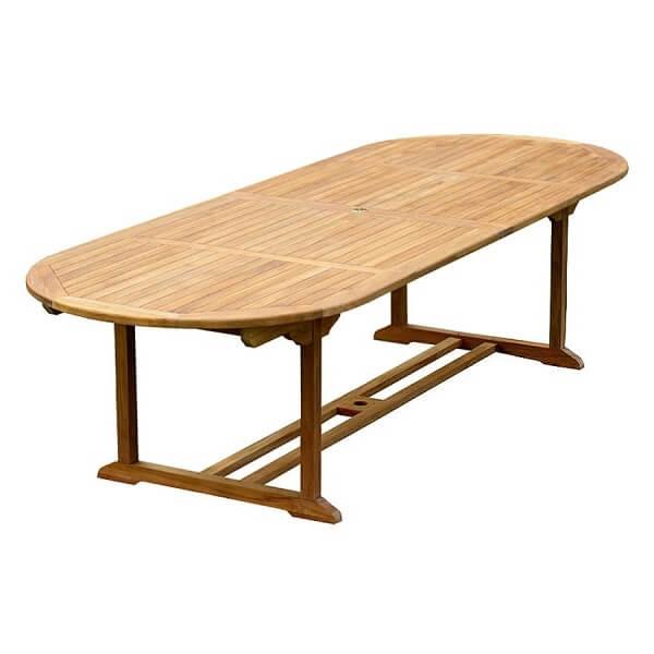 Teak Outdoor Oval Double Extension Tables KTT 026