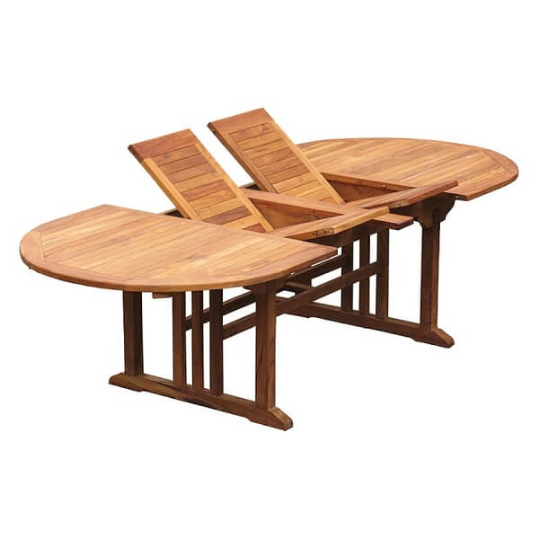 Teak Oval Double Extension Table KTT 027