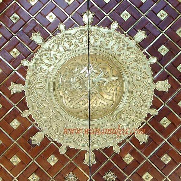 Kijang Mosque Doors brass ornamen