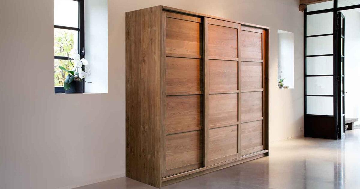 wood wardrobe design